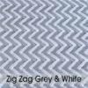 Weave Colours - Zig Zag Grey & White 600 x 600