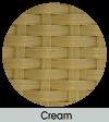 cream weave finish