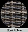 Stone hollow weave finish