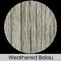 Weathered Balau finish